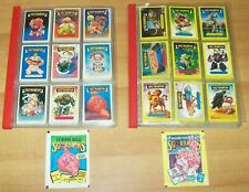 2 COMPLETE STICKERS SET GARBAGE PAIL KIDS GANG VINTAGE 80's SGORBIONS SERIES 1,2