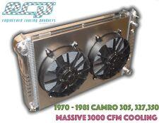 The BEST 1970 - 1981 Chevy Camaro Aluminum Radiator - 3000 CFM MASSIVE Cooling!