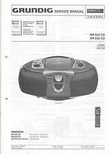 Grundig Service Anleitung Manual RR 620 CD 650 CD   B1085