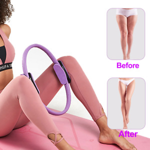 Yoga Circle Pilates Magic Ring Resistance Body Trainer Exercise Fitness Gym Work