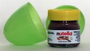 NUTELLA mini-glass jar w/ yellow top 1.05oz Made in Italy -Green Egg Special-