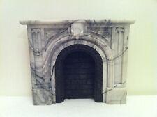 Dollhouse 1:12 Fireplace stone marble style rare Puppenhaus Cheminée marmoriert