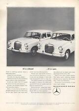 1966 Mercedes-Benz 190D Sedan Gas & Diesel PRINT AD
