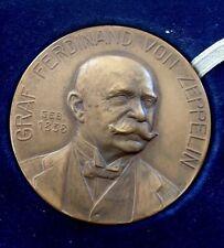 Originale Bronze Medaille Zeppelin - Durch Muth zum Sieg in Etui
