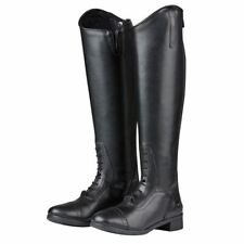 Saxon Ladies Syntovia Equestrian Pony Horse Riding Stable Zip Paddock Boots
