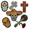 Sugar Skull Cross Ghost Punk Iron Sew on Embroidered Appliques Patches DIY Motif