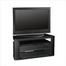 Tech Craft-LCAV40-Black wood tv stand w. swivel top**factory sealed**