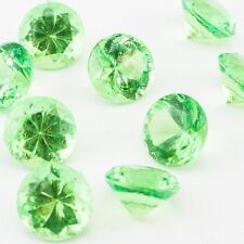 Mini Green Acrylic Crystal Diamond Gems vase fill Confetti Table Scatter 1 lb