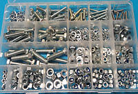1/4 to 1/2 UNC Stainless Fasteners Pack 540 pc-mixed kit of bolts, nuts, washers