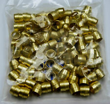 "Brass Fittings: Air Brake Sleeve, Tube OD 1/4"", Quantity 100"