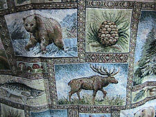 Yellowstone Wildlife Tapestry Moose Deer Fish Pinecone Tree Lowest Price Around