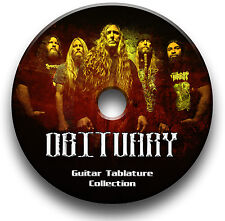 OBITUARY DEATH METAL ROCK GUITAR TAB TABLATURE SONG BOOK SOFTWARE LIBRARY CD