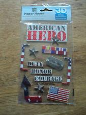 Paper House American Hero Adhesivo aglomerado BNIP * Nuevo *
