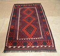 6'6 x 3'4 Antique Handmade Afghan Kilim Wool Area Rug Tribal Kelim Carpet #5017