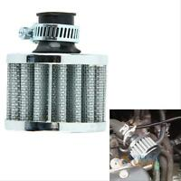 12mm Sliver Car Motor Cold Air Intake Filter Turbo Vent Crankcase Breather gvd#