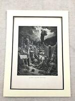 1870 Original Victorian Print Skeletons Dry Bones Vision of Death Antique