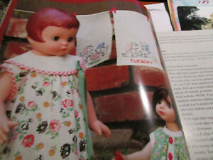 "17"" 18"" PATSY FAMILY Doll Dress / Combination/ Laundry Bag Pattern/ Wilhelmsen"