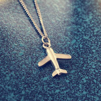 Korean women men small aircraft necklace fashion clavicle chain jewelry Charm