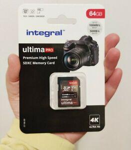 Integral 64GB SD Card 4K Ultra-HD Video Premium High Speed Memory Card