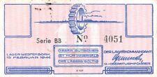 Netherlands Westerbork Labor Camp 10 Cent 1944 serial: BB 4051 Fine