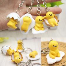 1pc Lazy Egg Yellow Yolk Doll Key Ring Buckle Key Chain Funny Gift Toy