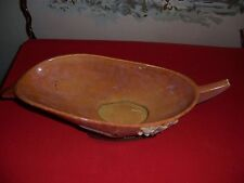 Vintage Roseville Art Pottery Mid-Century Wincraft Glossy Apricot 227-10 Console