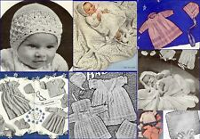 60+ Vintage Baby Knitting Patterns Layettes Shawls