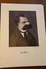LORIOT † Grafik Grosse Deutsche Friedrich Nietzsche original SIGNIERT AUTOGRAMM