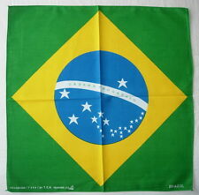 BRAZIL Flag Handkerchief Head Scarf BANDANNA Fashion Accessory Neck Scarf Gift