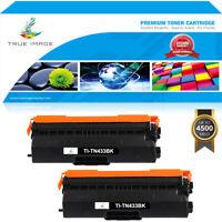 2PK Black Toner Compatible with Brother HL-L8360CDW MFC-L8900cdw L8610CDW TN433