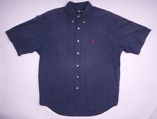 Polo Ralph Lauren Blake Kurzarm Hemd Freizeithemd Button-Down Blau Größe L