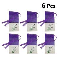 6pcs Empty Sachets Bag Flower Printing Fragrance Lavender Sachet Bag Purse