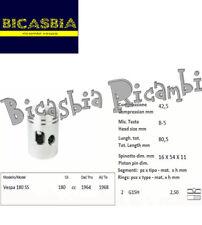 10043 - PISTONE COMPLETO DI SEGMENTI DM 62,8 PER CILINDRO VESPA 180 SS 1964-1968