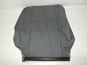 New OEM 2001-2002 Isuzu Rodeo Front Left Seat Back Backrest Cover Gray Leather