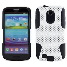 Samsung Galaxy S2 Epic 4G Touch D710 Sprint - HARD & SOFT RUBBER CASE WHITE MESH