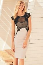 Next Lace Trim Bodycon Dress 16Tall