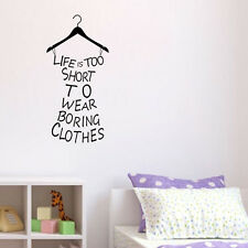 Life is too short wall sticker Bedroom Wallpaper Vinyl Wall Art Decals