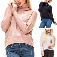 Vero Moda Damen Strickpullover Rollkragen Pullover mit Glitzerndem Lurexgarn