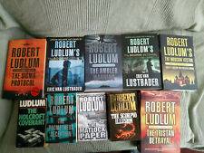 10 Robert Ludlum books Sigma Protocol Bourne Legacy Betrayal Holcroft Covenant