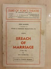 DUKE OF YORK'S THEATRE  BREACH OF MARRIAGE - JANET BARROW CHRISTOPHER QUEST