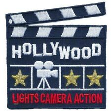 Hollywood California Patch - Lights Camera Action (Iron on)