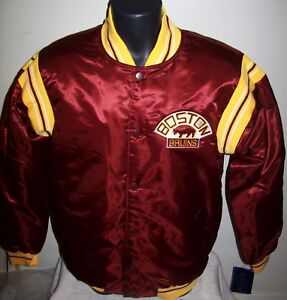 BOSTON BRUINS NHL STARTER Satin Jacket Traditional MAROON Big Man's 5X 6X