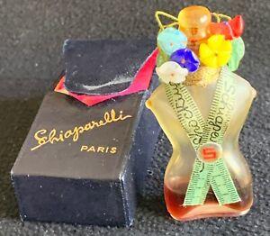 STUNNING RARE 1937 ANTIQUE SCHIAPARELLI SHOCKING PERFUME BOTTLE TORSO 3 IN