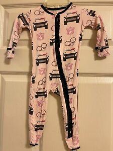 Kickee Pants Girls Police Pajamas Size 12-18M