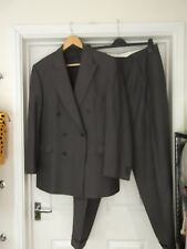 AQUASCUTUM Suit Grey/Black Herringbone 2 Piece Jacket & Trousers Size 42/38R