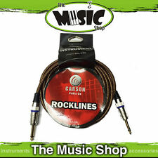 Carson ROCKLINES 20ft Vintage Tweed Braided Guitar Cable 6m Instrument Lead