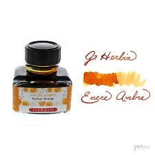 J. Herbin 30 ml bottle Fountain Pen Ink, Amber (Orange Scented)