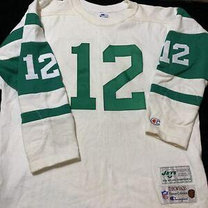 Champion NFL New York Jets Joe Namath 12 90s 80s Jersey Sweatshirt XL Vintage