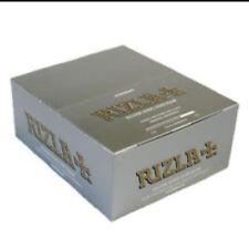 Silver slim Genuine Rizla  Cigarette Rolling Paper Full box 100% Genuine