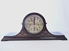 ANTIQUE HERSCHEDE Tambour Mantle Clock.Westminster.Works Well. GRAND PRIZE 1915.